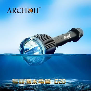 ARCHON D20 Diving light Cree XM-L T6 1200 Lumen Aluminum Waterproof Underwater 100 meter Professional Diving Flashlight
