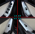 Auto interior armrest decoration trim cover,window switch button trim for Mazda 3  2014 2015, auto accessories,4pcs/set.