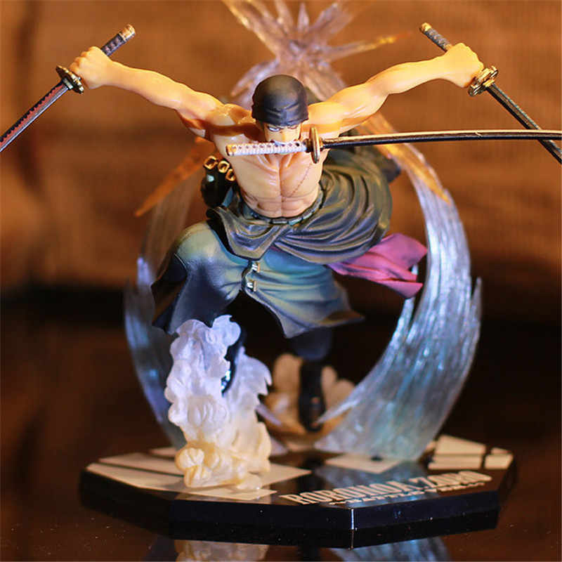 Anime One Piece Ronoa Zoro Ghost 3D2Y Three-knife Ghost Cut Ver. Sauron PVC Action  Collection Figure Model Gift Luffy 21cm