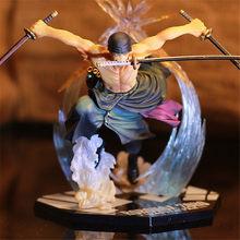 Anime jeden kawałek Ronoa Zoro duch 3D2Y trzy-nóż duch wyciąć Ver. Sauron PVC kolekcja akcji Model figurki prezent Luffy 21cm