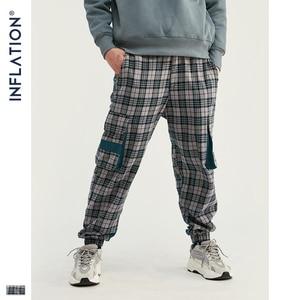 Image 2 - INFLATION Streetwear Men Plaid Jogger Pants  Joggers Casual Pants 2020 Man Hip Hop Pants Plus Size Jogger Casual Pants 93367W
