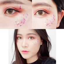 Glitter Eyeshadow 2018 Brand New Cosmetic Glitter Festival Star Moon Shimmer Paillettes Body Face Makeup Decoration cosmetic star магазин