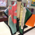High Quality Women Silk Scarf Flower Pattern Square Scarf Brand New Spring Autumn Neckerchief Hot Sale BY173117