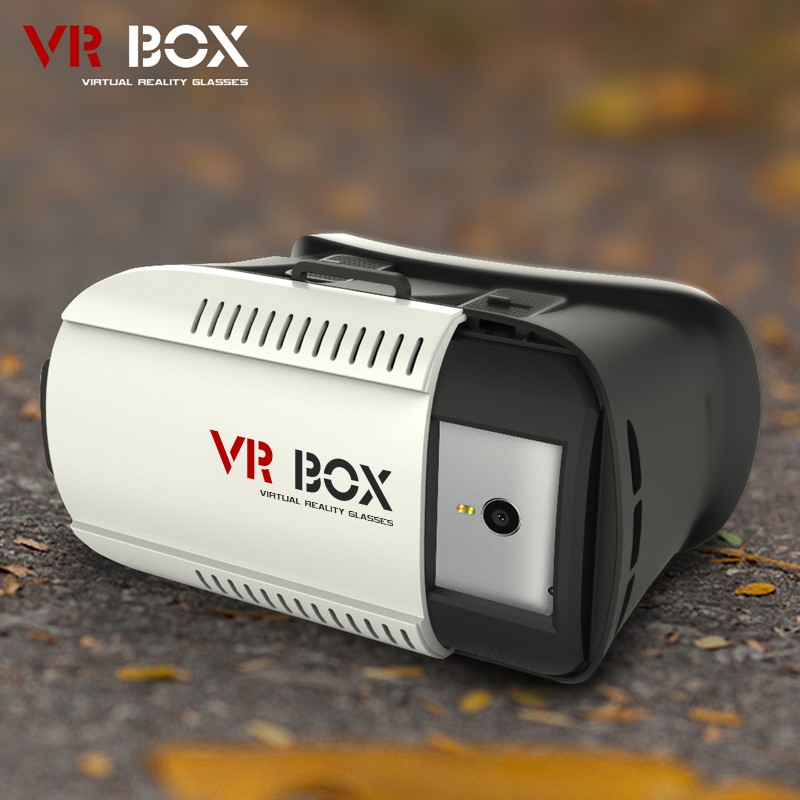 50pcs/lot Factory Supply 3D Head Mount VR Box 1 nd Generation Virtual Reality vr glasses & Bluetooth Remote Control 4