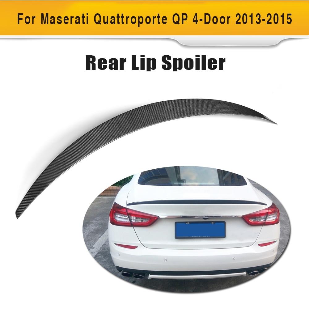 Maserati için karbon Fiber Arka Bagaj Spoiler Quattroporte Sedan 4 - Araba Parçaları - Fotoğraf 1