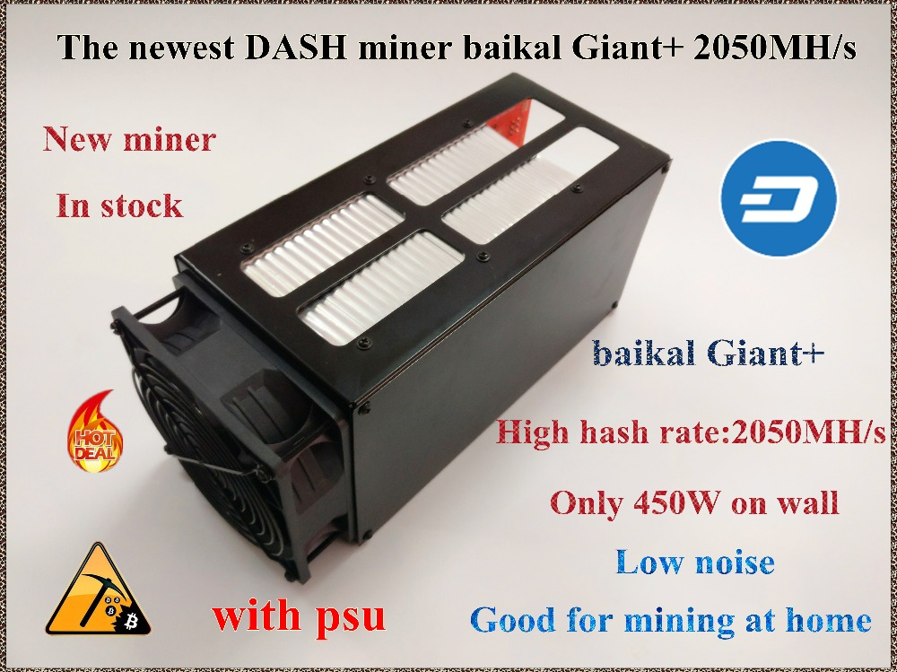 Baikal Giant X11 DASH miner Baikal Giant 2000M with psu only 450W on wall better than