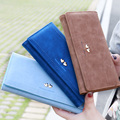 3 Fold Lady Change Purse Fresh Double Love Heart Women Long Wallets Portable Carteira Feminina Fashion Hasp Card Holders