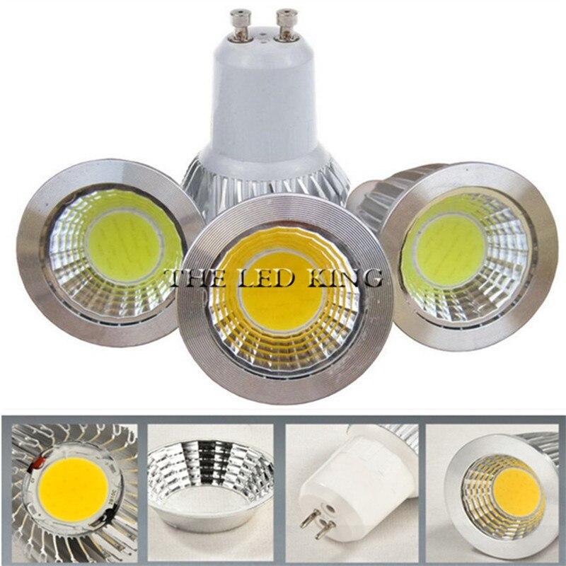 COB Dimmable levou holofotes 9W 12W 15W 85 18W luzes led-265V GU10 lampada COB COB lâmpada led Branco Quente Branco Frio levou lâmpada