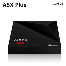 New Style A5X Plus 8 second boot! Android 7.1 TV Box RK3328 Quad core 1GB 8GB Smart Mini Media Player 2.4G wifi 4K