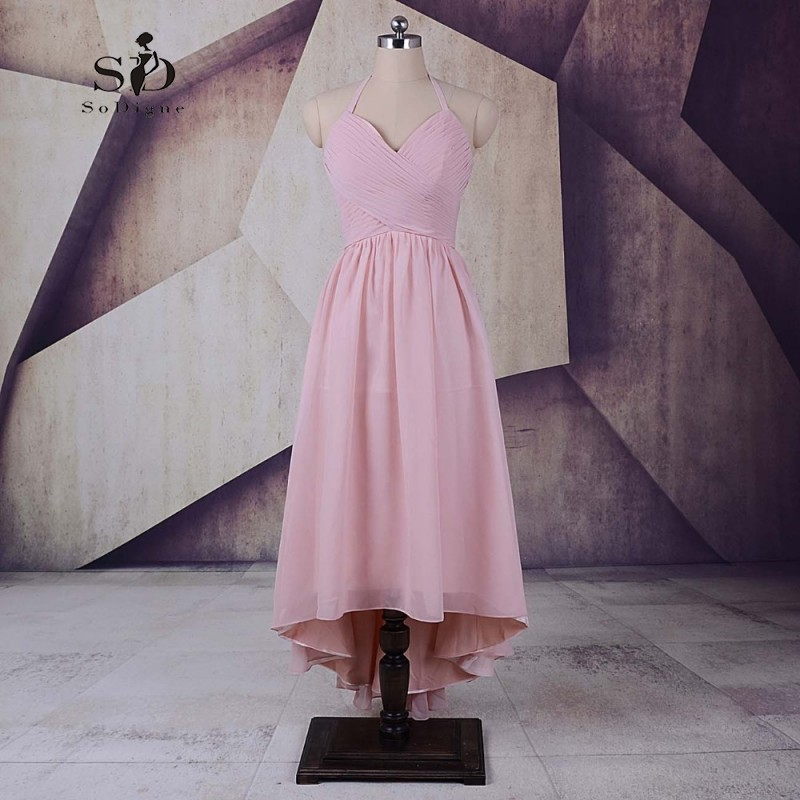 Beautiful Dresses For Teens Cheap Pink Chiffon Prom Dresses Ankle