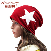 Wholesale Punk Girls Boys Hats Spring Autumn Winter Wool Head Caps Solid Color Five Pointed Star
