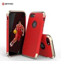 IPhone 7 Için 7 Artı Çift Malzeme Ginmic Durumda Alüminyum Alolly + PC Askeri Koruma Kapağı Kalkan Cilt Fundas Pelerin renkli