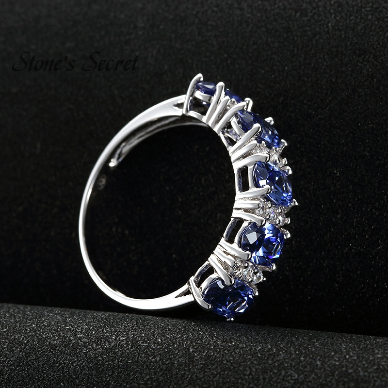 New Style 5.04g 100% 925 Sterling Silver Ring Tanzanite Simulant ...