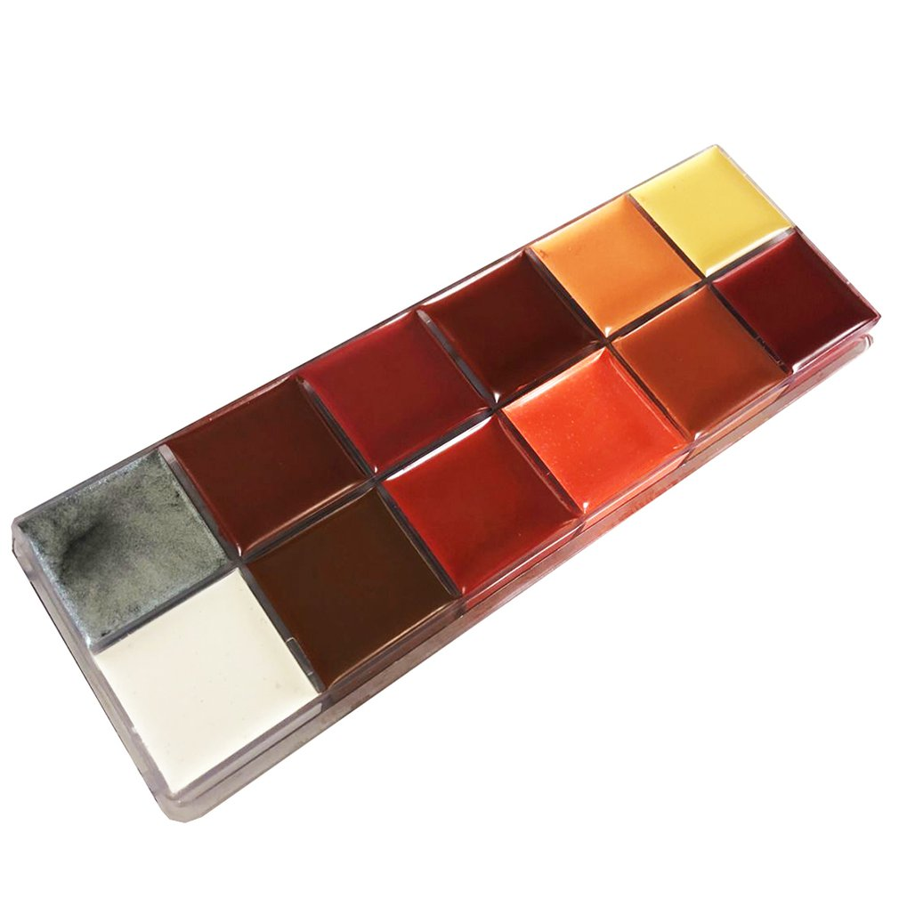12 Colors/SET Halloween Makeup Cream Cosplay Special Effects Vampire False Scars Wound Skin Tattoo Face Body Paint12 Colors/SET Halloween Makeup Cream Cosplay Special Effects Vampire False Scars Wound Skin Tattoo Face Body Paint