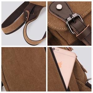 Image 5 - Canvas Chest Bag Pack Vintage Men Backpack Shoulder Bags Female/Male Travel Backpack Multifunction Small Bags Mens Back Pack Bag