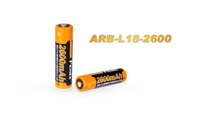 1PCS Fenix ARB-L18-2600 3.6V 18650 2600mAh Rechargeable Li-ion Battery
