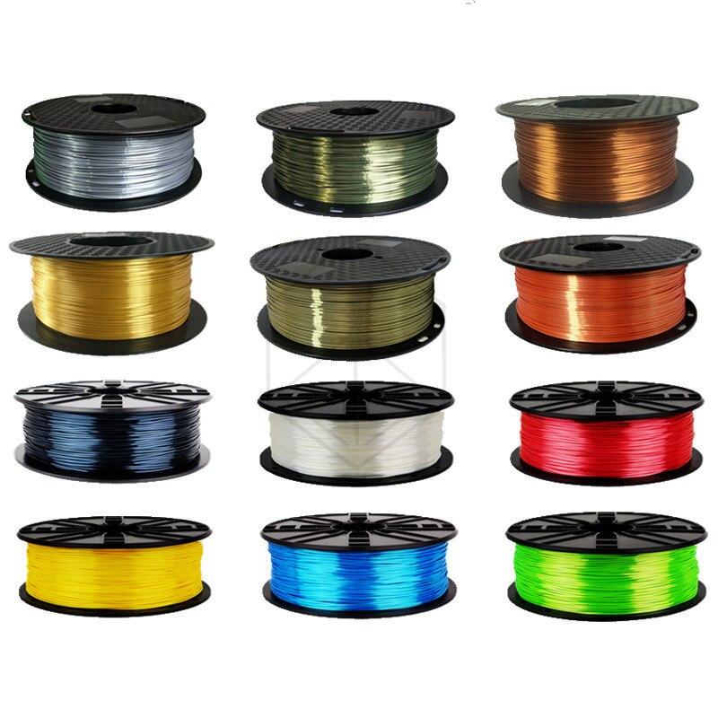Silk Shiny Copper PLA 3D Printer Filament 1.75mm 1KG 2.2LBS Spool Widely 3D