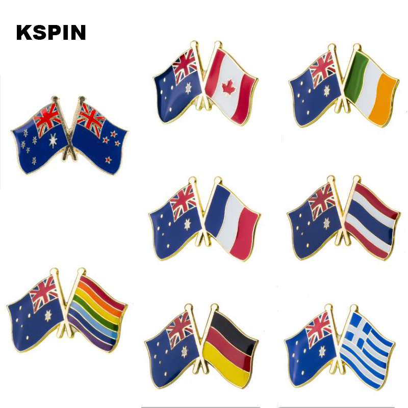 Badges Nice Australia Friendship Flag Metal Pin For Coat Jacket Brooch On The Collar Of The Shirt Jewellry Gift Bright Luster Home & Garden