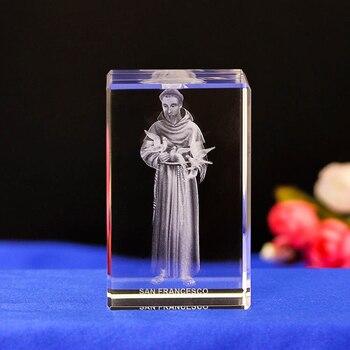 พระเยซูเลเซอร์ฝังคริสตัลไฟกลางคืนพระเยซูและสันติภาพนกพิราบรูปร่างนำแสงของขวัญเด็ก