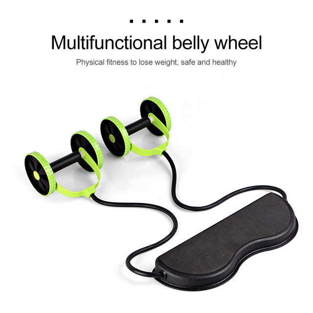 Multi-functional Fitness Abdominal Wheel Rollers with Mat