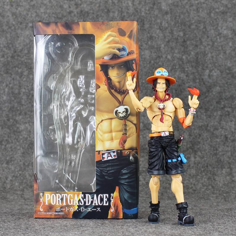 18cm POP Anime One Piece Portgas D Ace PVC Action Figures Toys Collection Model Dolls Parts Changeable new 4pcs crank crankshaft