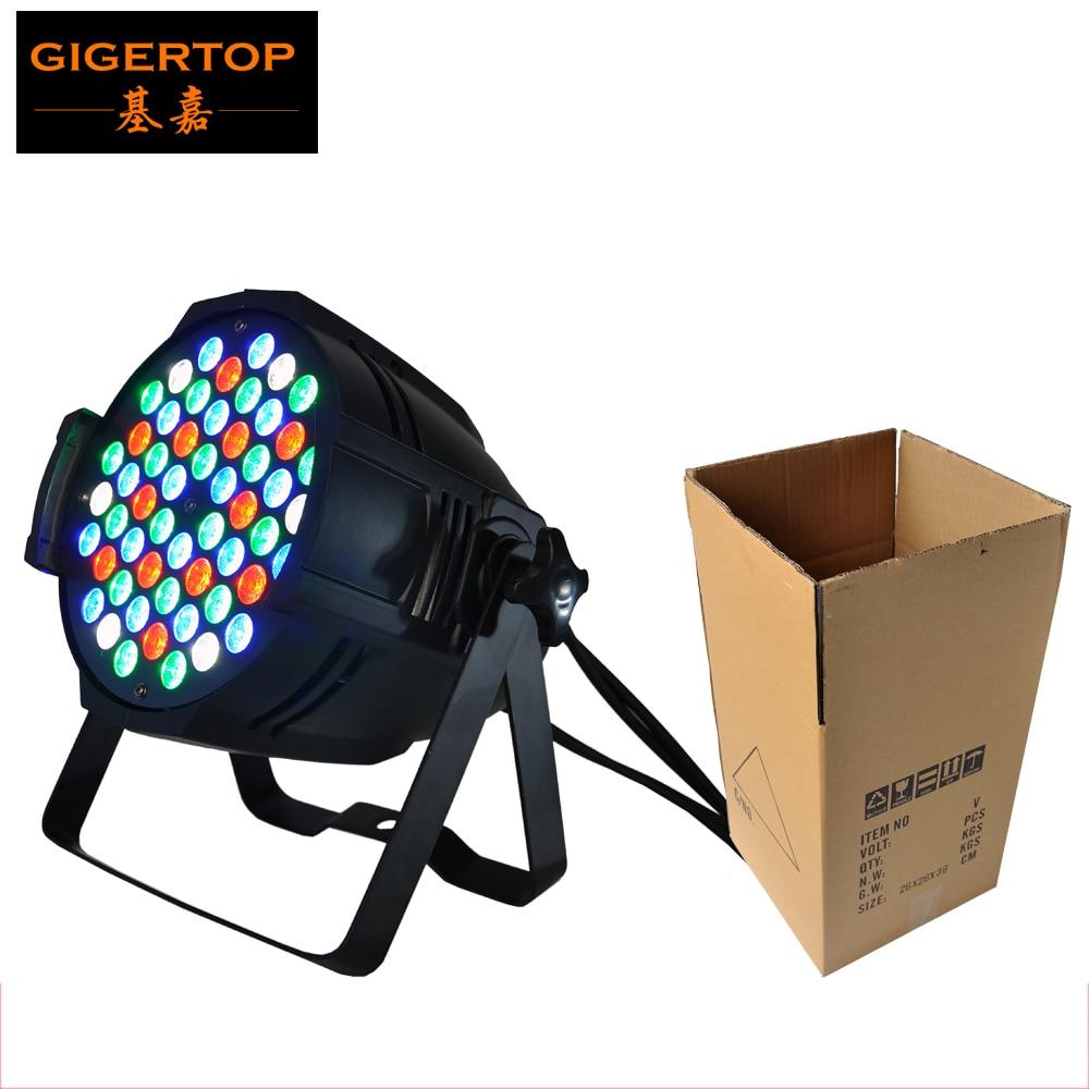 Freeshipping RGBW 54pcs 3W LED PAR 64 Light,DMX 512 control 4/8DMX Channel Hi-Quality Fan Cooling Effect 90V-240V Led Stage Wash