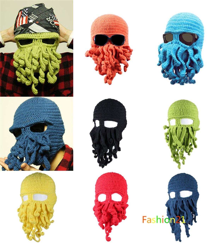 Pulpo tentáculo Cthulhu Knit Beanie Hat Cap Viento Máscara en ...