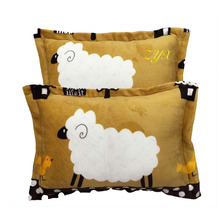 Jane YU Winter Flannel Pillowcase Coral Pile Thick And Warm Single Person Double, One Pair