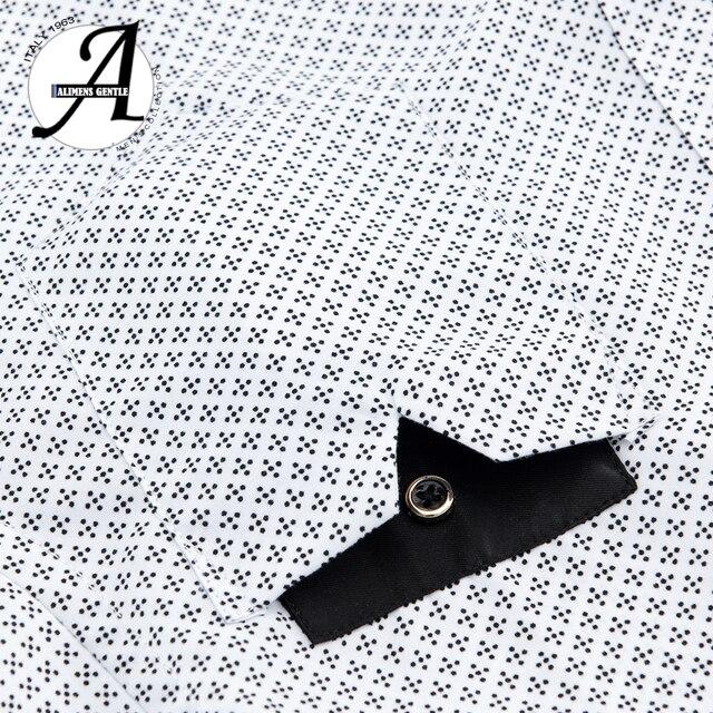 Printed Plaid Polka Dot Men Shirt Long-Sleeved Casual Shirts For Men Slim Fit 21 Colors Male Dress Shirts Camisas Masculina 4