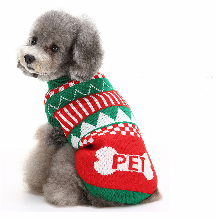 New Qualified Puppy Clothing Warm Clothes Winter Christmas Sweater ...