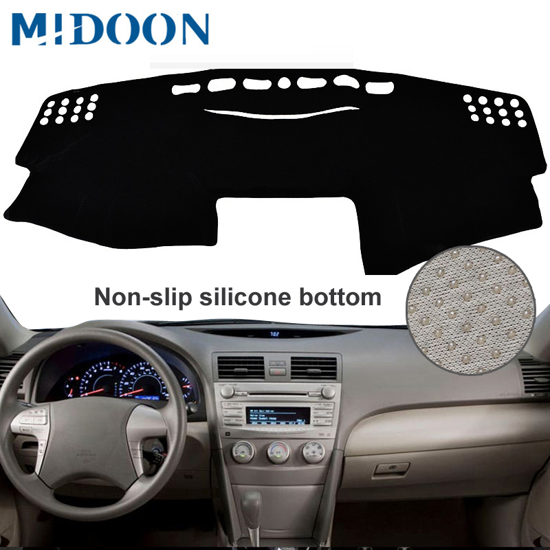 MIDOON For Toyota Camry Board Cover Pad Carpet 2007 2008 2009 2010 2011 Car Dashboard Cover Dash Mat Dash Pad DashMat