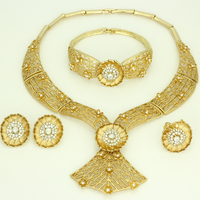 Friday New year sales!! Wholesale New 2016 trendy element gold Fan hollow out jewelry sets fashion quality jewellery sets