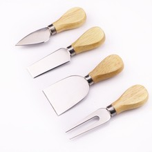 Cheese-Cutter Cooking-Tools-Set Kitchen-Accessories Wood-Handle Stainless-Steel Useful