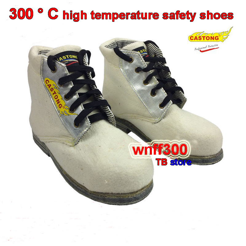CASTONG 300 degrees High temperature resistance safety shoes Flood prevention Stab Protective shoes Anti-scald safety shoes