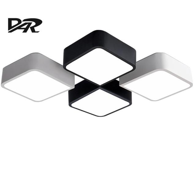 Creative DIY Plafonniers Noir Blanc Fer Corps Acrylique Ombre Led Plafond Lampe Luminaire clairage Int rieur.jpg 640x640 Résultat Supérieur 15 Superbe Plafonnier Led Noir Image 2017 Shdy7