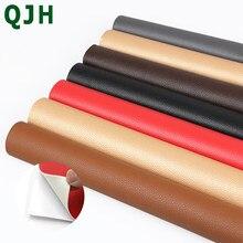 Parche de reparación de cuero PU de 50x135cm, parche autoadhesivo para reparación de sofá, simulación de piel trasera, Parche de goma pegajoso, telas de cuero para sofá