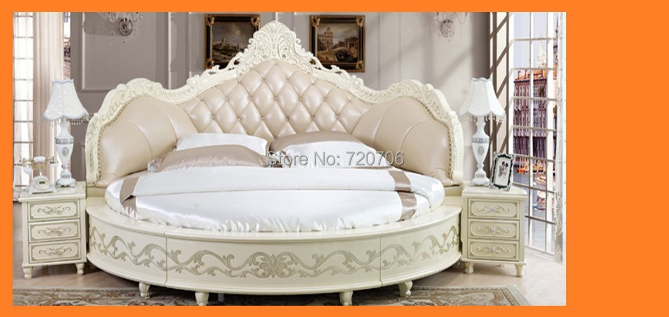 2014 New Design Round Luxury Leather Bed Sofa Bed Soft Bed Mini  Order$2500(mixed Items) In Living Room Sofas From Furniture On  Aliexpress.com | Alibaba ...