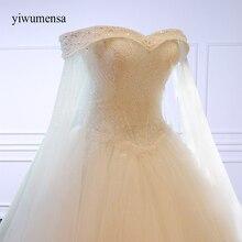 Yiwumensa роскошное высококачественное кружевное свадебное платье трапециевидной формы с кристаллами и бисером, свадебное платье принцессы с вышивкой, свадебное платье es