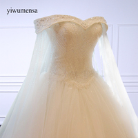Yiwumensa Luxury High Grade Crystal A Line Beaded Lace Wedding Dress Bride Princess Embroidery Sweetheart Wedding
