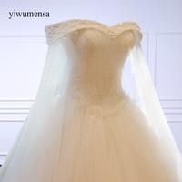 Yiwumensa Luxury High Grade Crystal A Line Beaded Lace Wedding Dress Bride Princess Embroidery Sweetheart Wedding