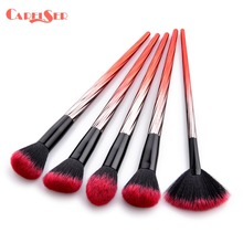 цена на CARELSER 5/6Pcs Makeup Brushes Tool Set Cosmetic Powder Eye Shadow Foundation Blush Blending Beauty Make Up Brush Maquiagem