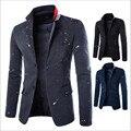 Dois homens terno Botão casaco Primavera Outono 2017 Nova Moda criativa Novidade Tinta de impressão Slim Fit Homens Casuais blazeres jaqueta