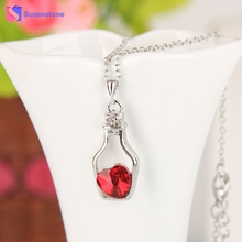 Necklace 2017 Lowest Price Women Fashion Popular Crystal Love Drift Bottles Pendant Necklace Jewelry for Woman #511