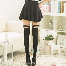 Fake Thigh Striped  High Quality Women Tights Sexy Patchwork Nylon Stockings Spring Summer Autumn Seamless Pantyhose sexy women patchwork tights lady color stitching black stockings spring autumn twisted knee stocking pantyhose tights