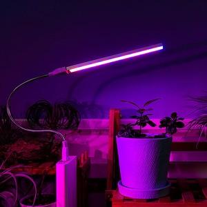 Image 4 - USB przenośne oświetlenie LED do uprawy DC5V 3W 5W lampa fito pełne spektrum kryty pulpit cieplarnianych hydroponicznych kwiat roślina rosną siewu