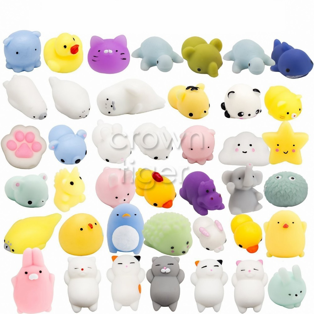 Toy Squishy Cat Cute Animals Antistress Ball Squeeze Rising Mochi Anti Stress Relief Toys Abreact Soft Sticky Squishi Funny Gift
