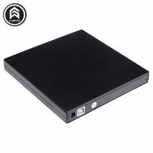 Portable External Slim USB 2.0 DVD-RW/CD-RW Burner Recorder IDE chip Optical Drive CD DVD ROM Combo Writer For laptop PC
