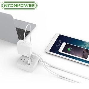 Image 5 - NTONPOWER OSP seyahat abd elektrik fişi prizleri Mini ve taşınabilir 2 AC çıkışı 3 USB şarj portları ile 3 ayak/1M güç kablosu