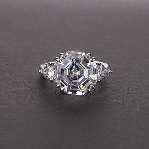 Image 2 - Onerain 100% 925 スターリングシルバー作成モアッサナイト aqumarine 宝石用原石のウェディング婚約ホワイトゴールドリング宝石類のギフト卸売