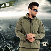 TAD Commander Shark Skin SoftShell Jackets Men Outdoor Sport Army Tactical Jacket Windproof Waterproof Warm Climbing Hiking Coat недорго, оригинальная цена